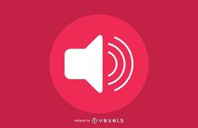 Botón de volumen de audio rosa