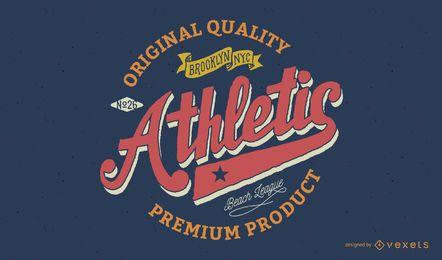 Insignia atlética vintage