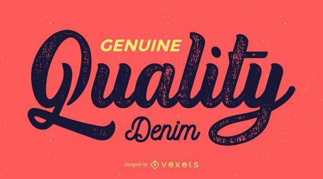 Rótulo retrô de qualidade genuína