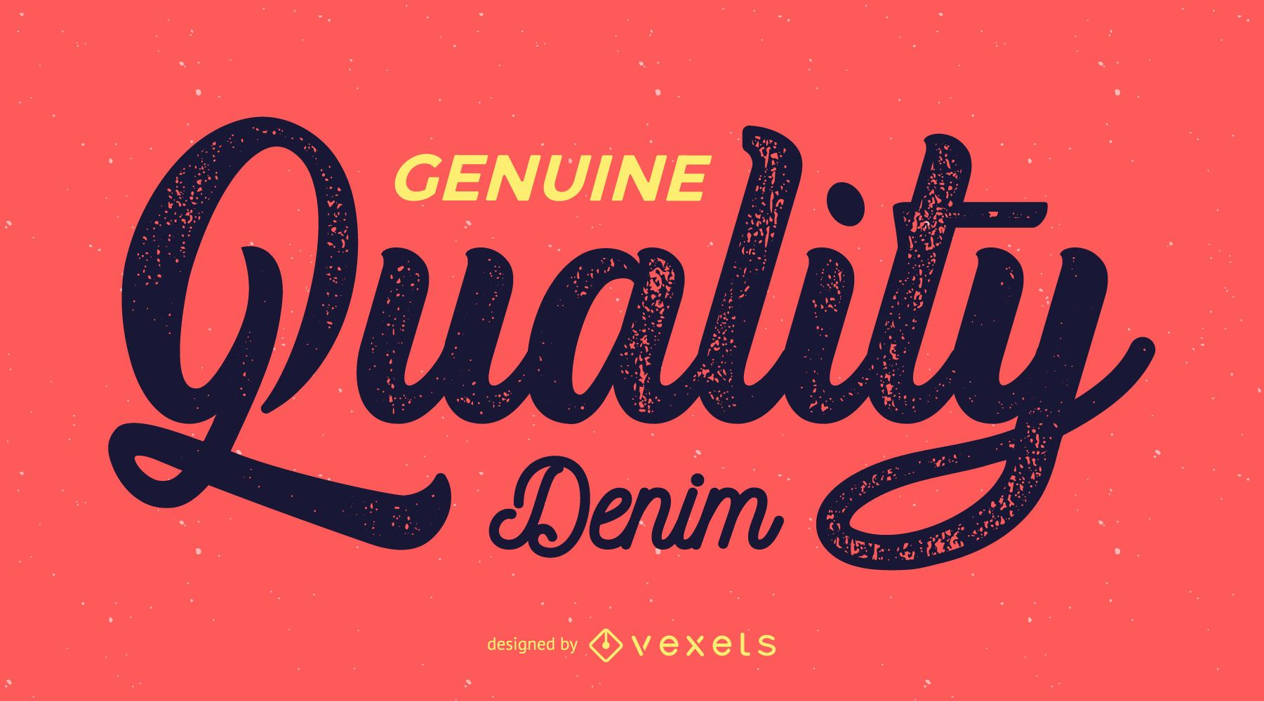Etiqueta retro de calidad genuina