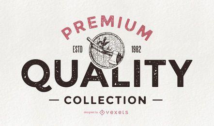 Insignia retro de colección de calidad premium