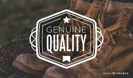 Rótulo vintage de qualidade genuína