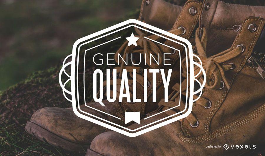 Etiqueta vintage de calidad genuina