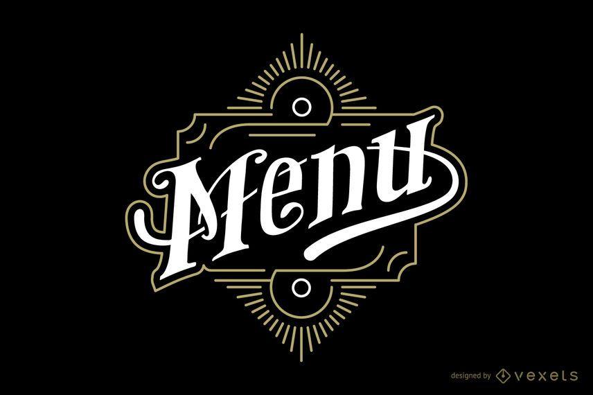 Emblema vintage de menu