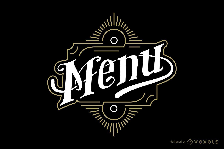 Emblema vintage menú