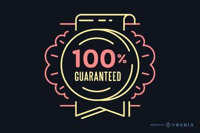 100% garantido emblema retro