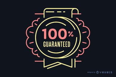 100% guaranteed retro badge