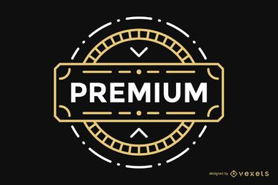 Distintivo vintage de rótulo Premium