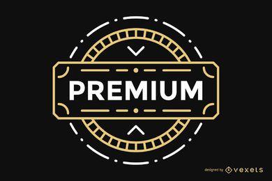 Premium Label Vintage Abzeichen