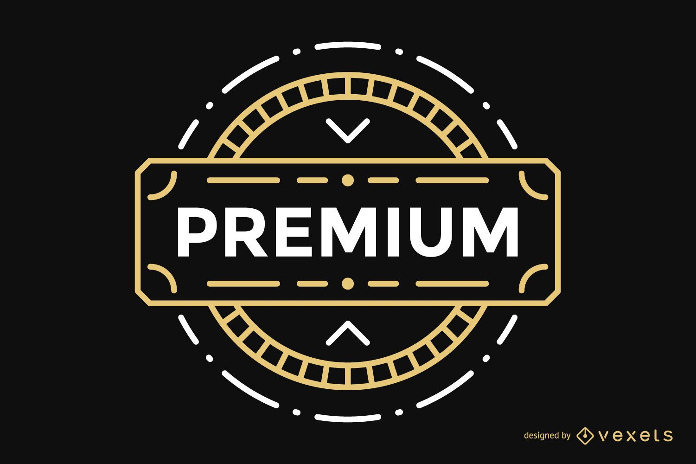 Insignia vintage de etiqueta premium