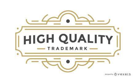 Emblema retrô de rótulo de alta qualidade