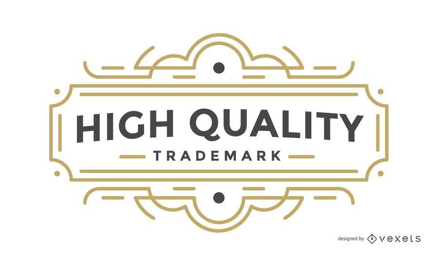 High quality label retro badge