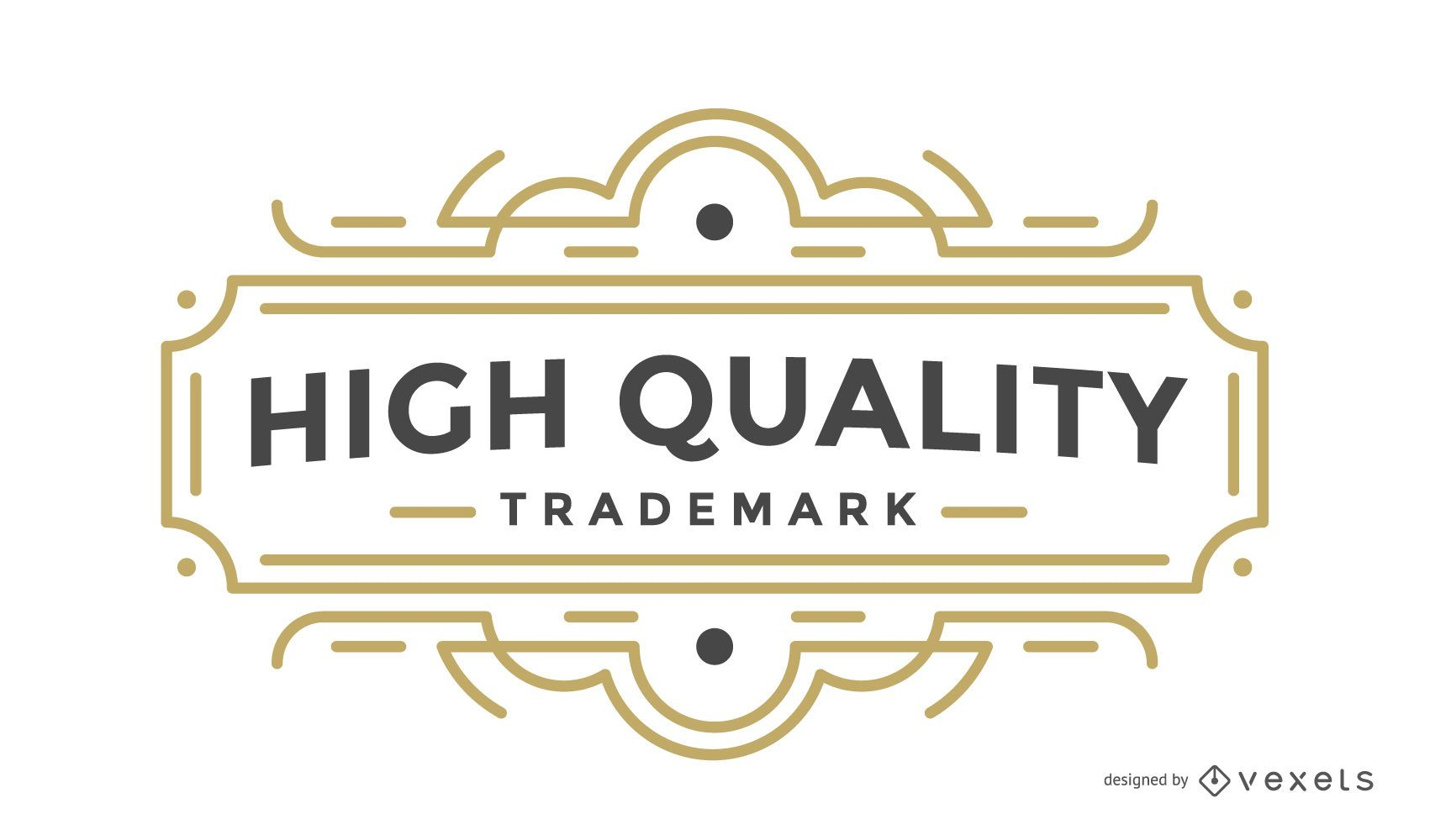 Insignia retro etiqueta de alta calidad