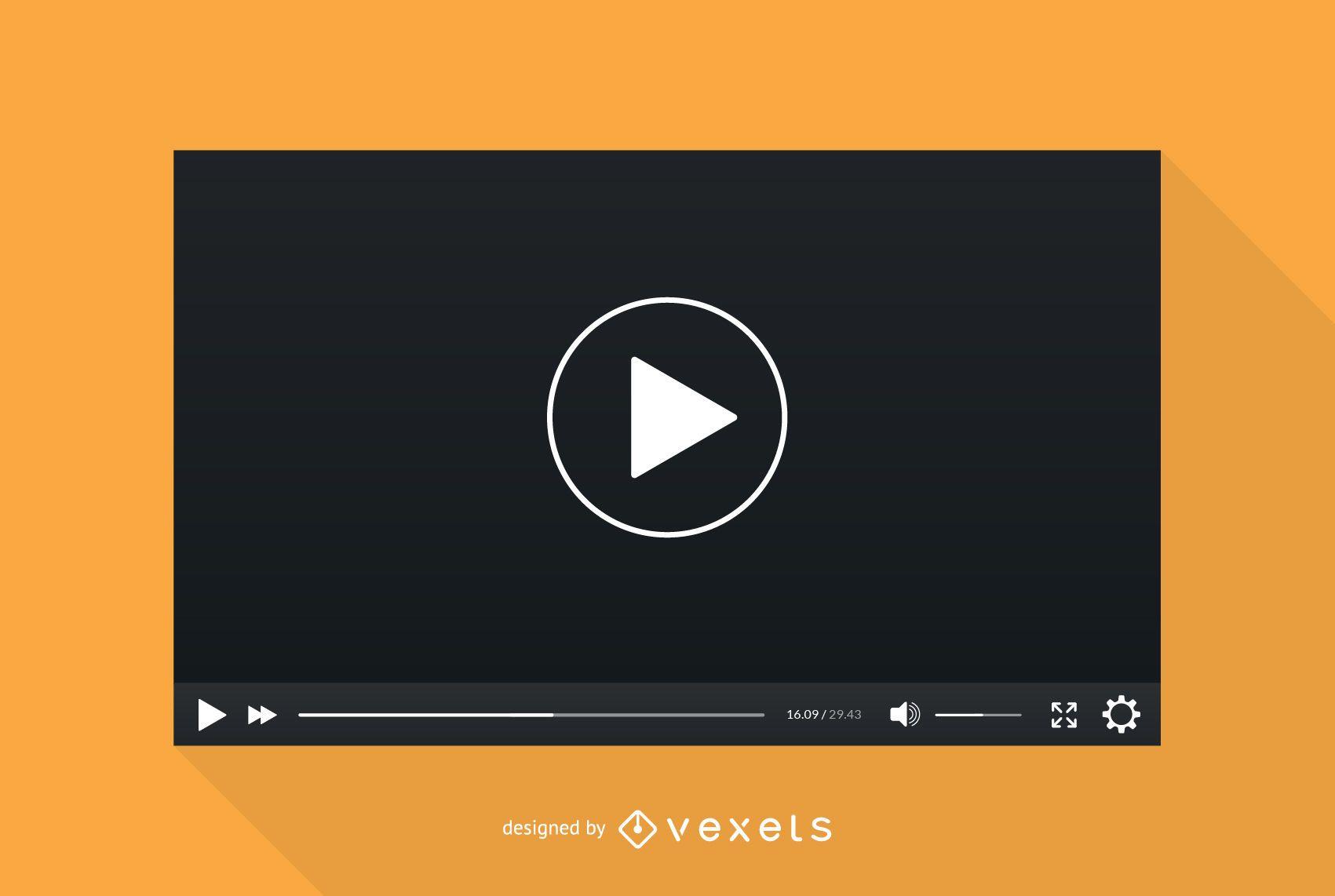 Video player screen template