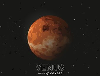 Ilustração de recorte do planeta Vênus