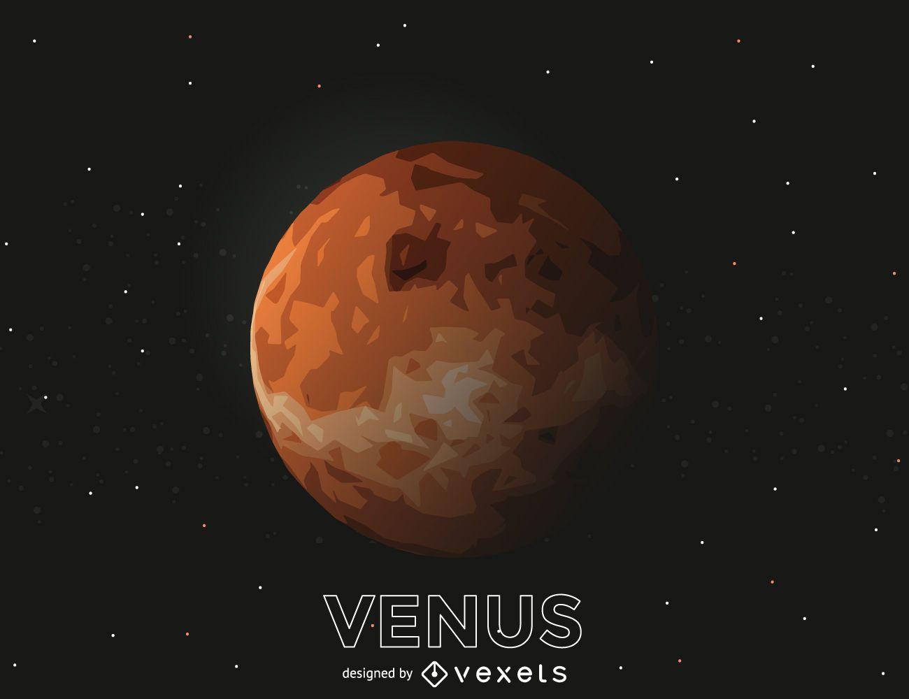 Ilustración de recorte del planeta Venus