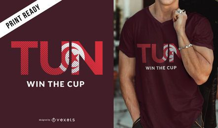 Tunis world cup t-shirt design