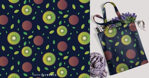 Patrón de fruta de kiwi en rodajas