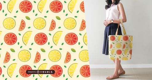 Lemon and grapefruit slices pattern