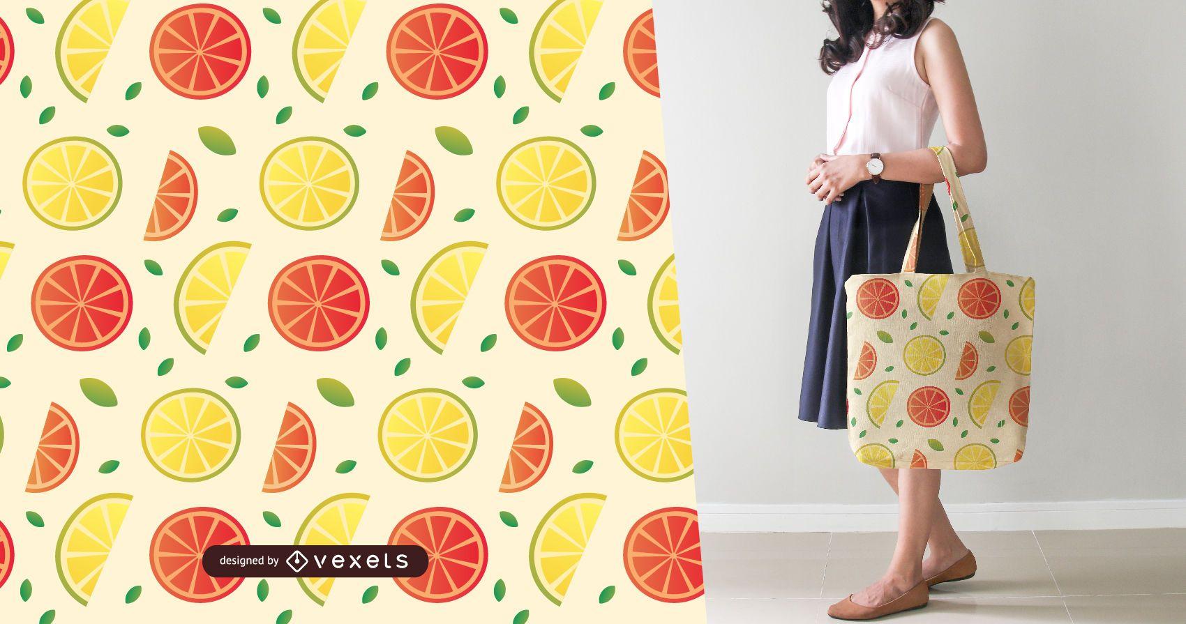 Patrón de rodajas de limón y pomelo