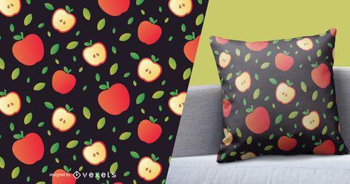 Patrón de manzana en rodajas