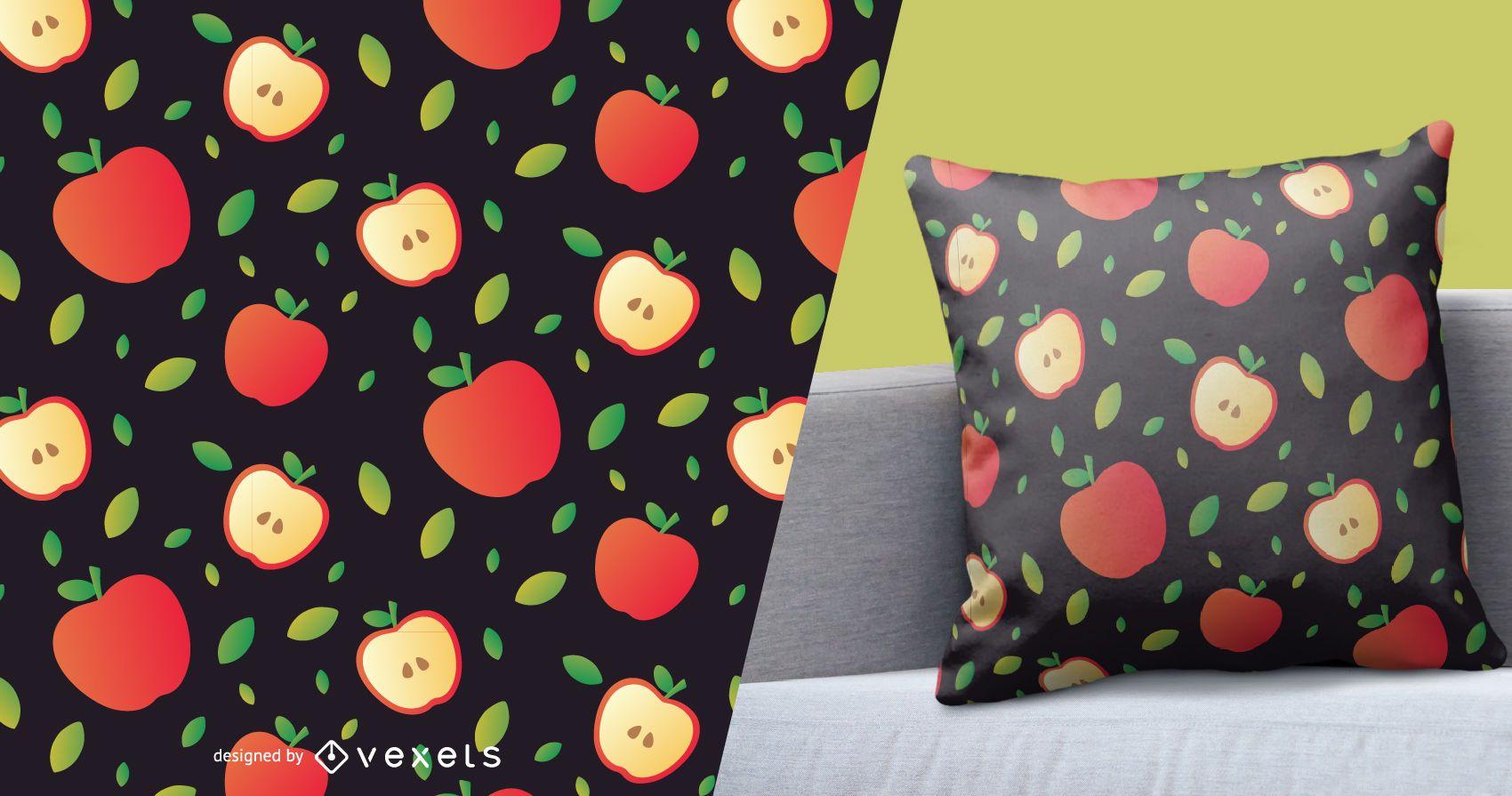 Sliced apple pattern