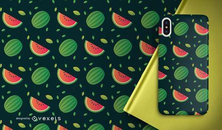 Patrón de rodajas de fruta sandía
