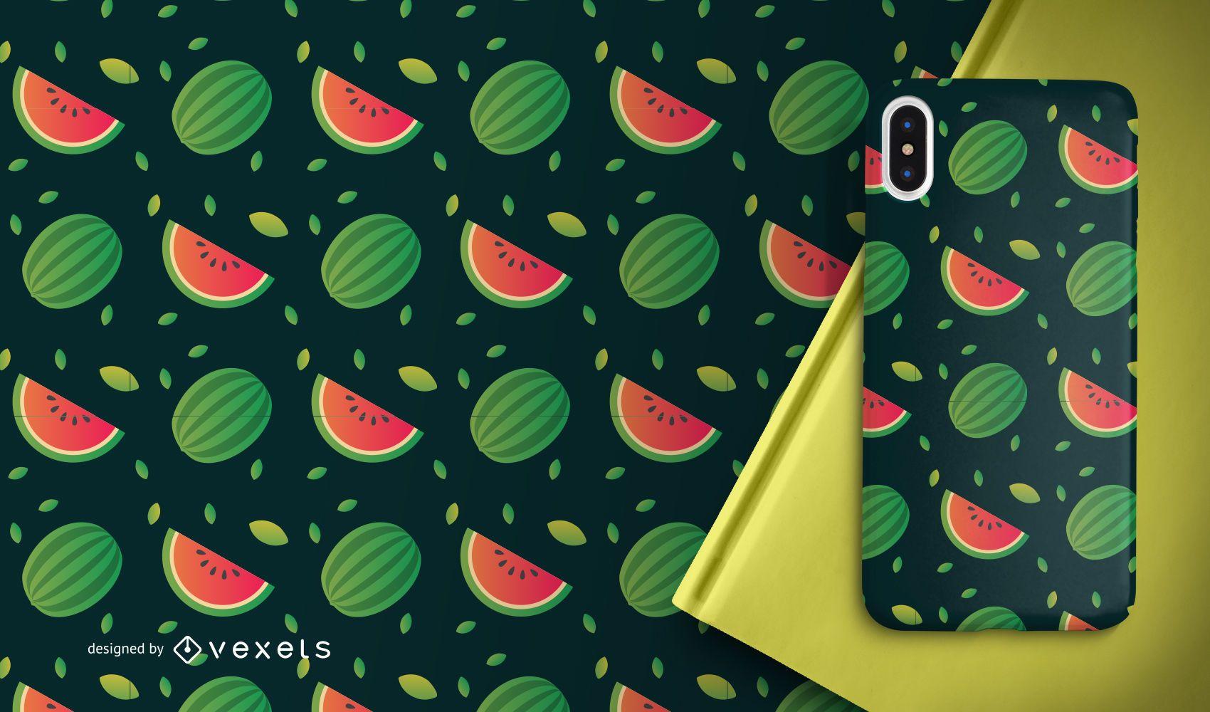 Watermelon fruit slices pattern