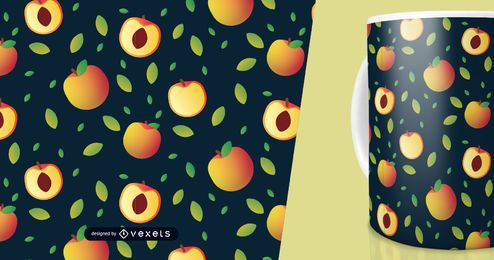 Peach fruit slices pattern