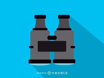 Icono de vista superior de binoculares