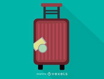 Maleta trolley icono de equipaje