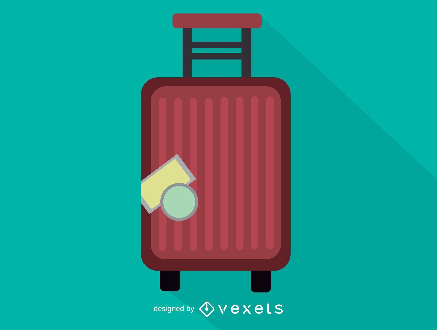 Trolley case luggage icon