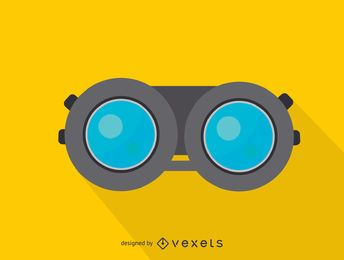 Icono de la vista frontal de los prismáticos