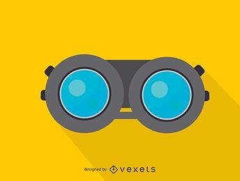 Icono de vista frontal de binoculares