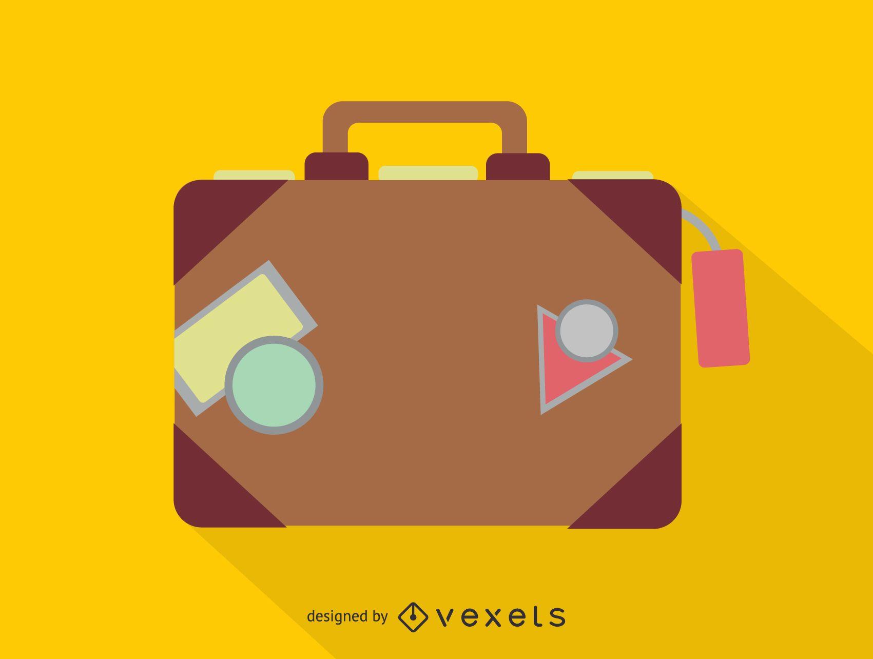 Travel luggage suitcase icon