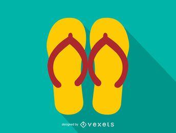 Ícone de flip-flops