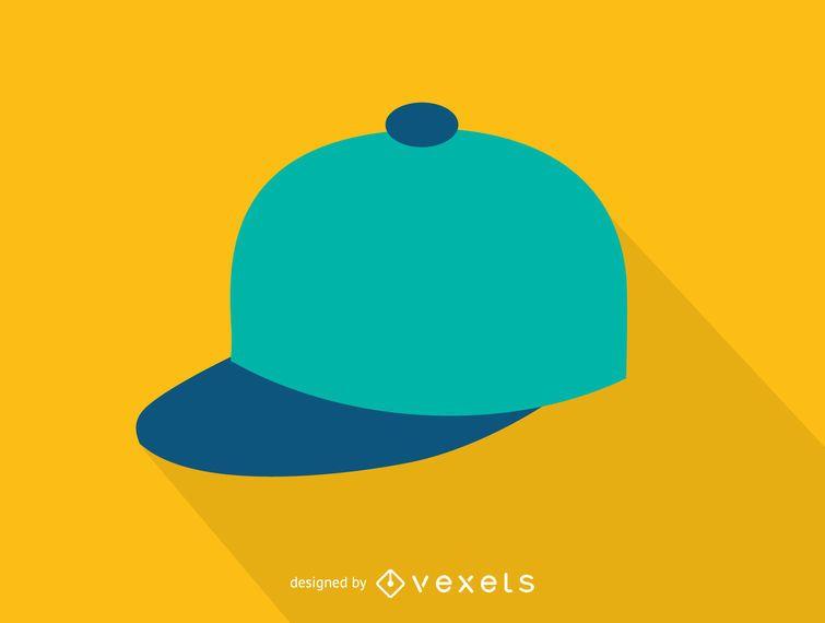 Einfaches Baseballmütze-Symbol