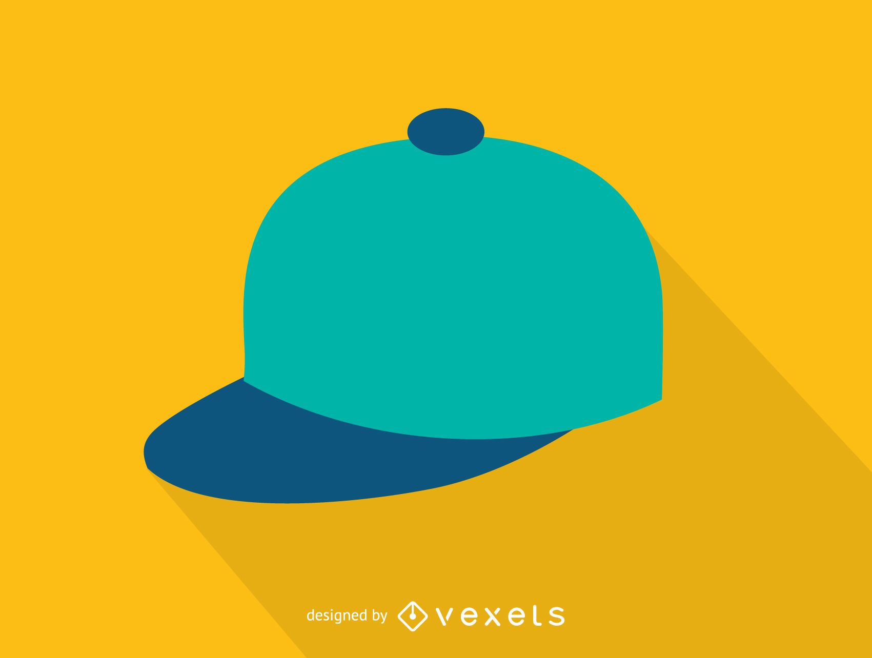 Plain baseball cap icon