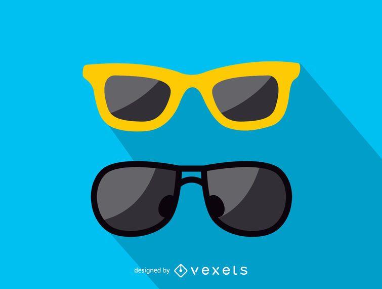 Symbol mit zwei Sonnenbrillen