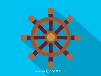Icono de volante de barco