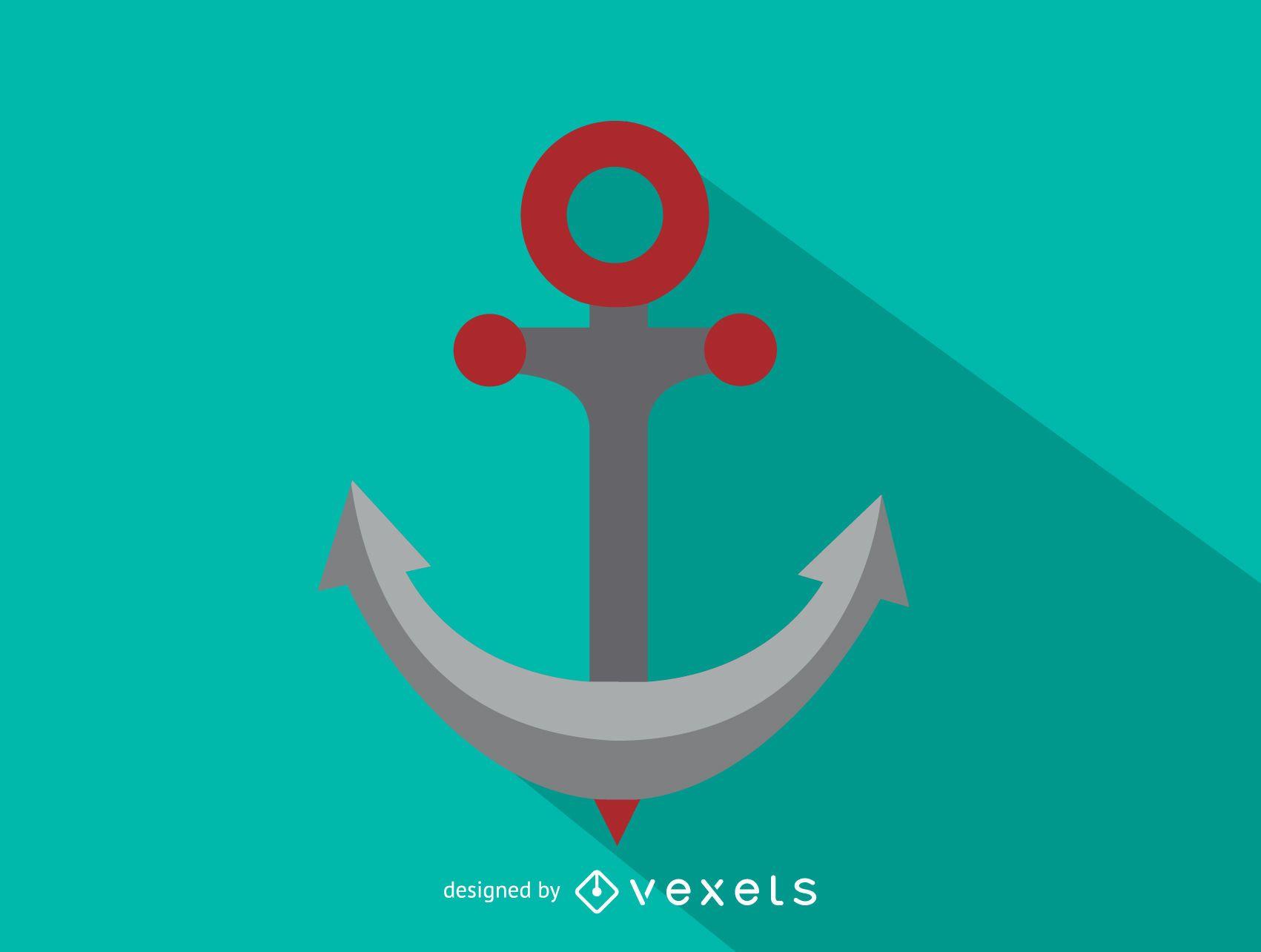 Icono de ancla de barco
