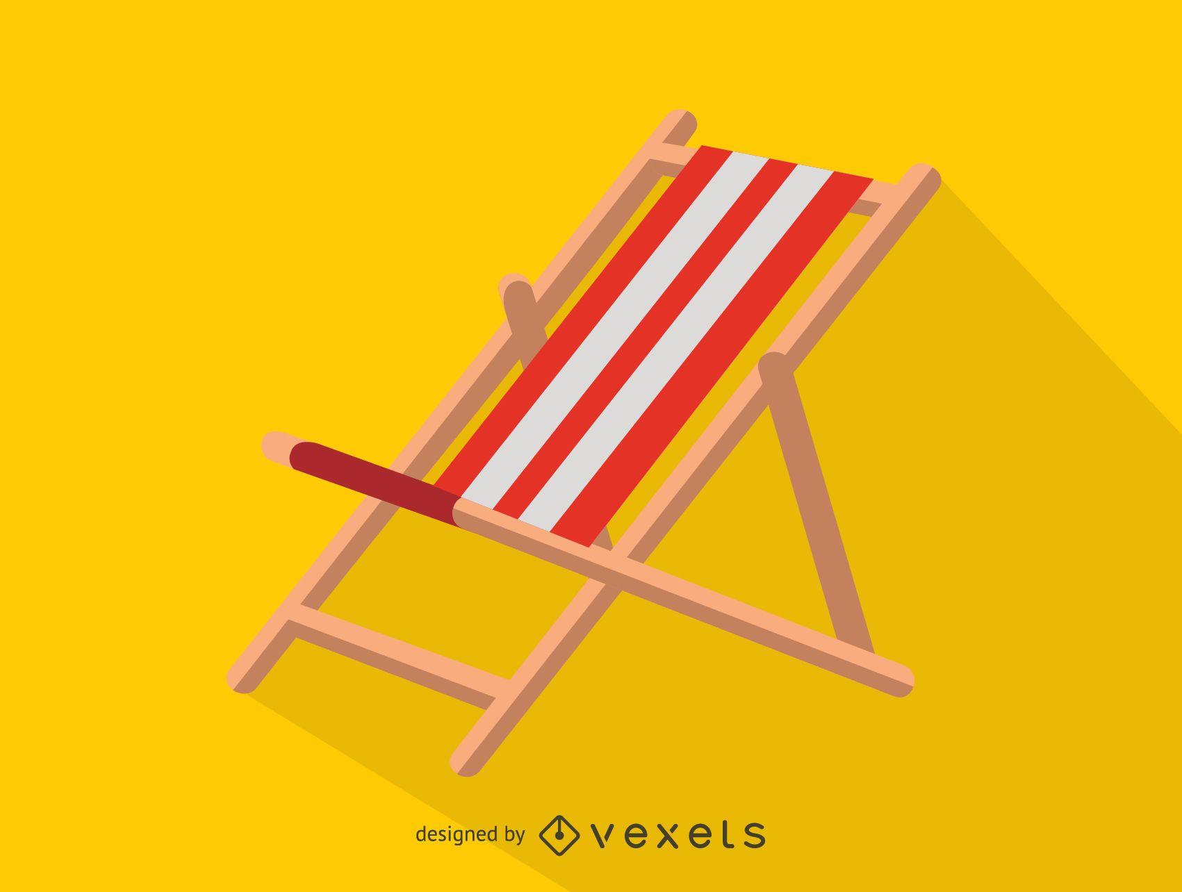 Icono de silla de playa de tela