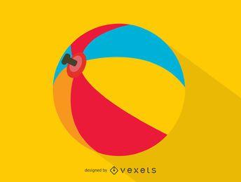 Icono de pelota de playa colorida