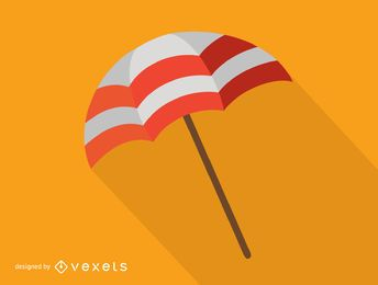 Colorful beach umbrella icon