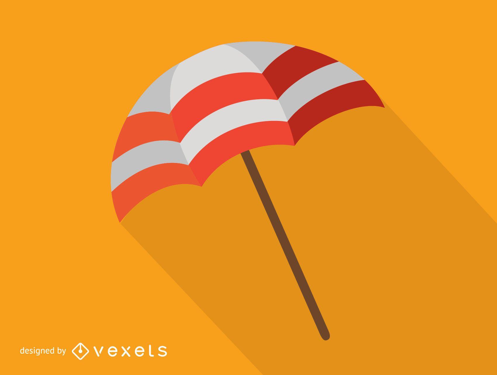 Colorful beach umbrella icon