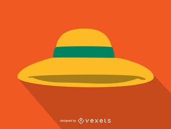 Mulher, chapéu sol, ícone