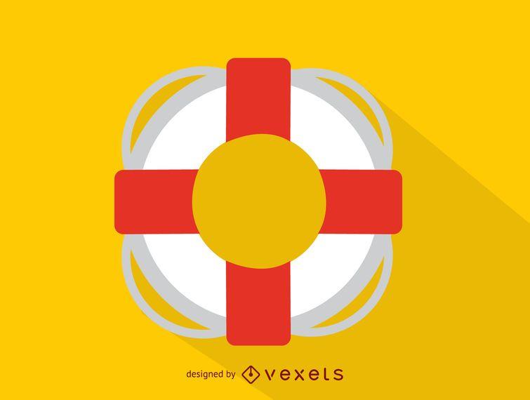 Ring Rettungsschwimmer Boje-Symbol