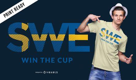 Diseño de camiseta de la copa mundial de Suecia.