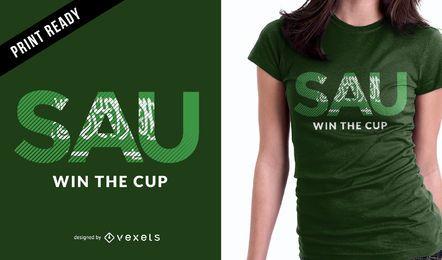 Diseño de camiseta de fútbol de Arabia Saudita