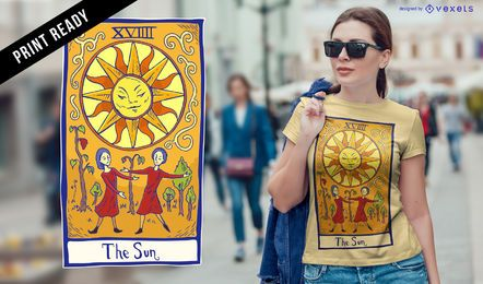 Diseño de camiseta de cartas del tarot